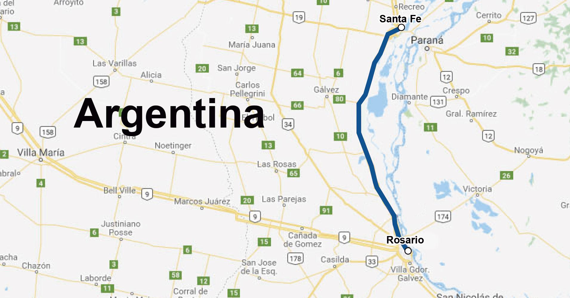 Tecsidel firma el proyecto de ITS para la Autopista Rosario-Santa Fe (Argentina)